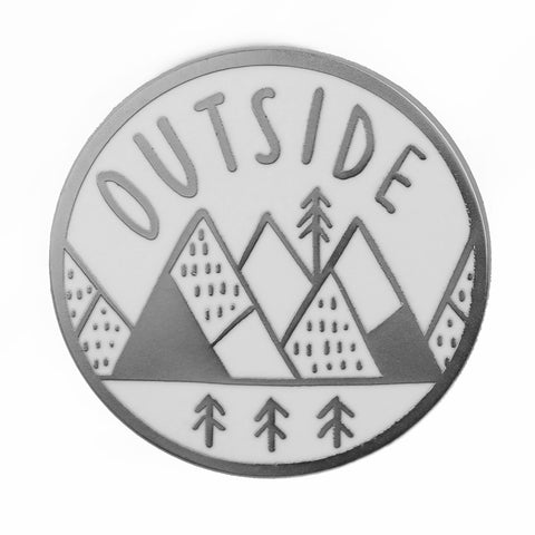 Outside Medallion Enamel Pin