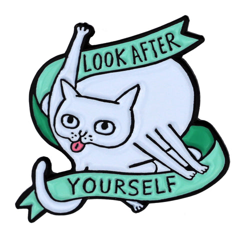 Look After Yourself Enamel Pin, Green