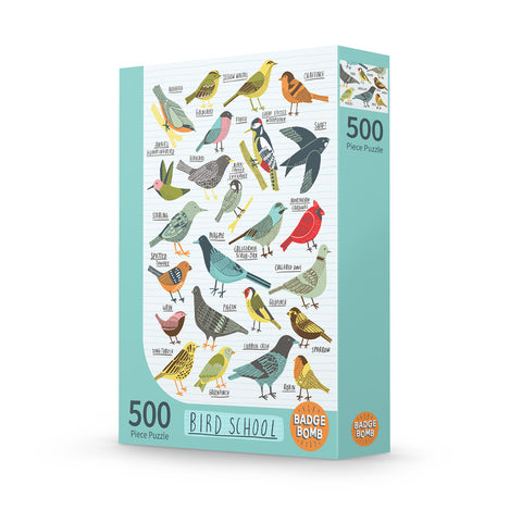 Bird School 500 Piece Puzzle