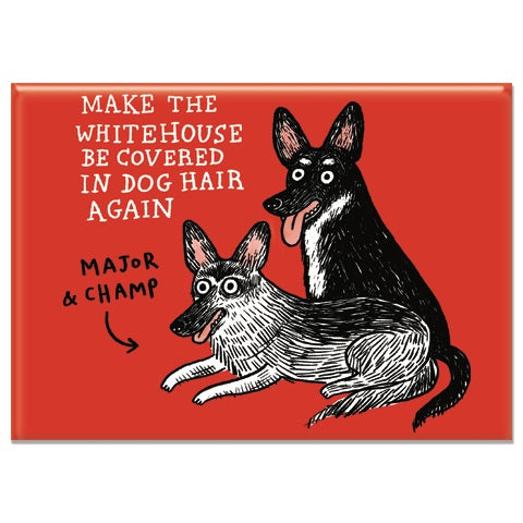 White House Dogs Rectangle Magnet