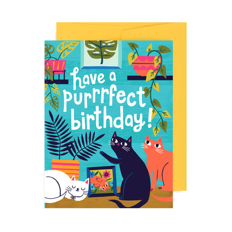 Allison Cole Illustration - Purrfect Birthday
