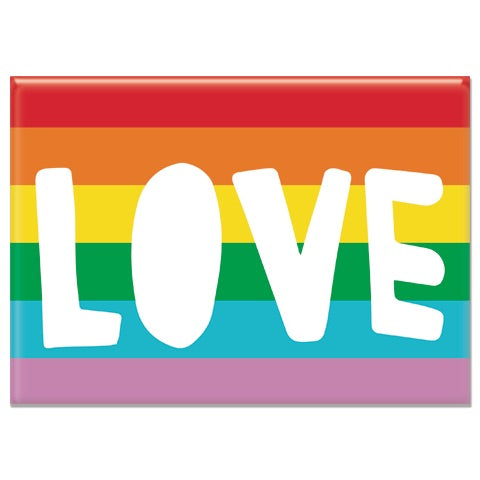 Love Rainbow Rectangle Magnet