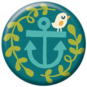 Allison Cole Anchor Bird 1 inch Button