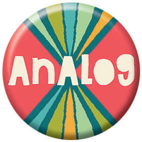 Allison Cole Analog 1 inch Button