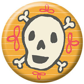 Allison Cole Skull 1 inch Button