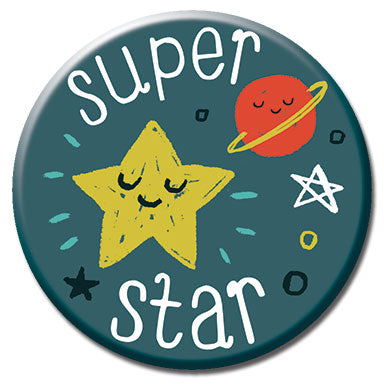 "Super Star 1.25"" Button"