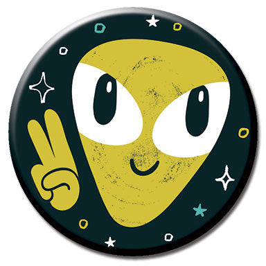 "Alien Peace 1.25"" Button"