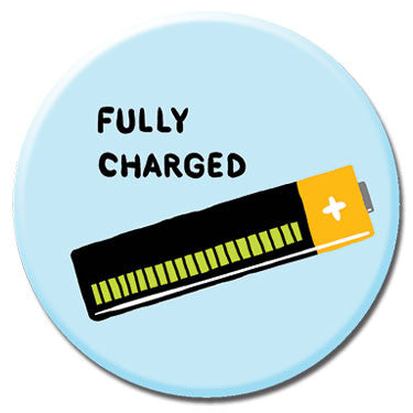 "Fully Chared 1.25"" Button by Alex DeSpain"