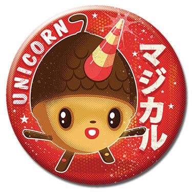 "Unicorn Acorn 1.25"" Button by 64 Colors"