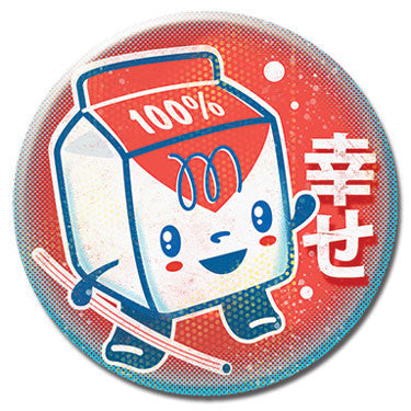 "Carton of Milk 1.25"" Button by 64 Colors"