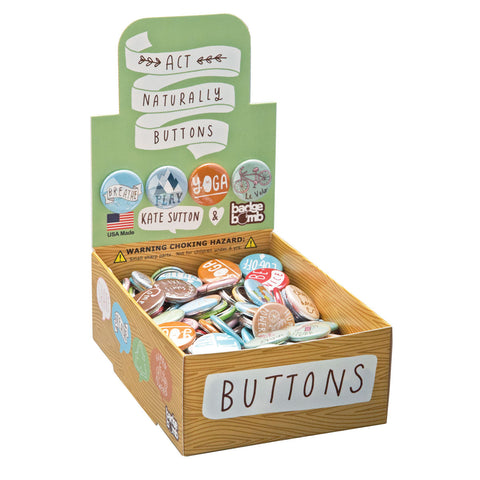 Act Naturally Button Box by Kate Sutton