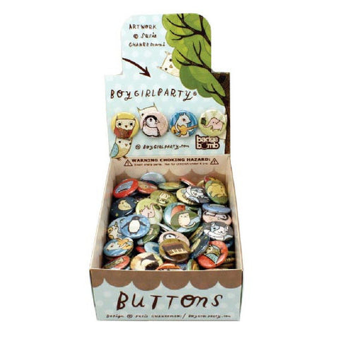 BoyGirlParty Owls Button Box