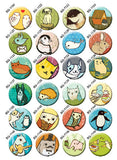 BoyGirlParty Owls Buttons