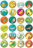 BoyGirlParty Miniature Menagerie Buttons