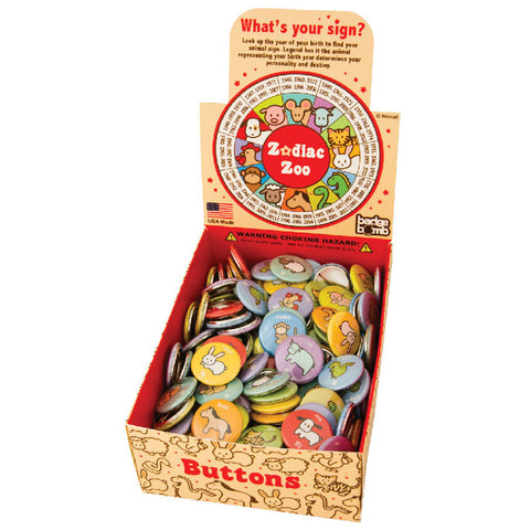 Zodiac Zoo Button Box