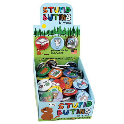 Stupid Buttons Box by Todd and Stupid Factory