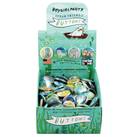 Ocean Friends Button Box by BoyGirlParty