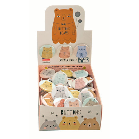 Buttons Bears - Button Box by Andrea Kang