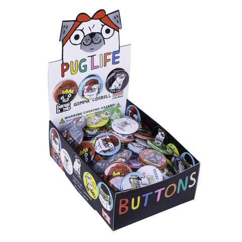Pug Life Button Box by Gemma Correll
