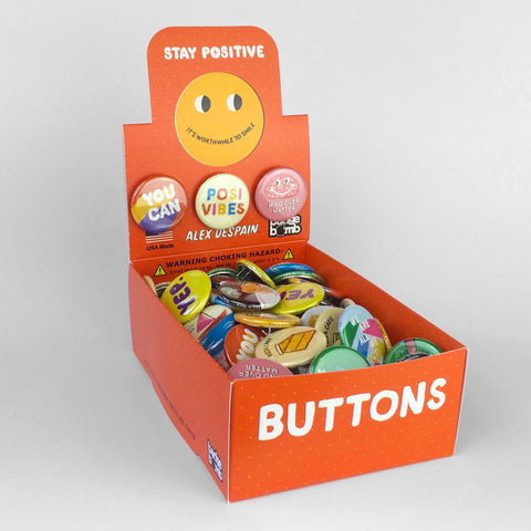 Stay Positive Button Box by Alex DeSpain