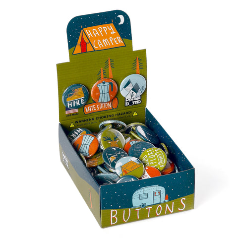 Happy Camper Button Box