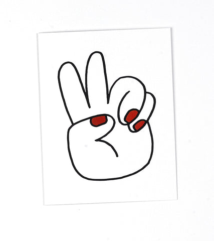 Peace Hands Greeting Card by Tuesday Bassen