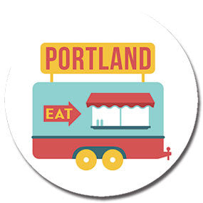 "Portland, Oregon Food Cart 1"" button by Badge Bomb"