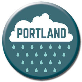 "Portland, Oregon Rain 1"" button by Badge Bomb"