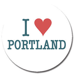 "I Heart Portland 1"" button by Badge Bomb"
