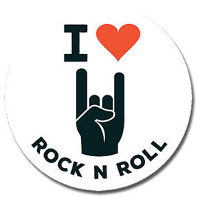 "I Heart Rock and Roll 1"" Button by Hey Darlin'"