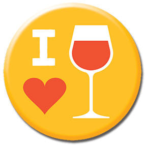 "I Heart Wine 1"" Button by Hey Darlin'"