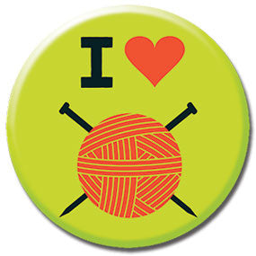 "I Heart Knitting 1"" Button by Hey Darlin'"