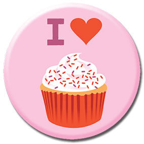 "I Heart Cupcakes 1"" Button by Hey Darlin'"