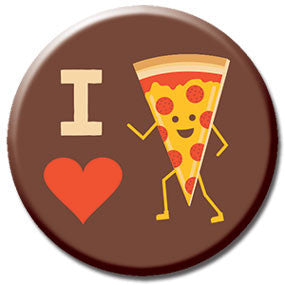 "I Heart Pizza 1"" Button by Hey Darlin'"