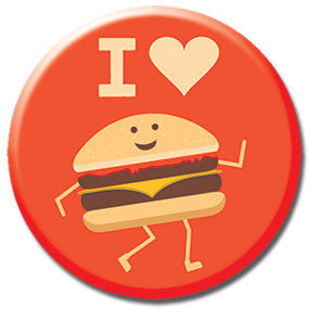 "I Heart Burgers 1"" Button by Hey Darlin'"