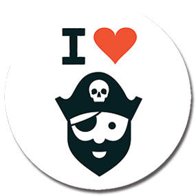 "I Heart Pirates 1"" Button by Hey Darlin'"
