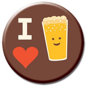 "I Heart Beer 1"" Button by Hey Darlin'"