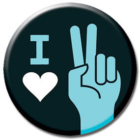"I Heart Peace 1"" Button by Hey Darlin'"