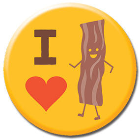 "I Heart Bacon 1"" Button by Hey Darlin'"
