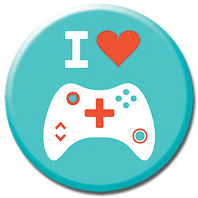 "I Heart Video Games 1"" Button by Hey Darlin'"