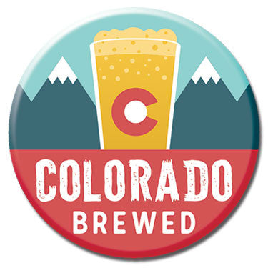 "Colorado Brewed 1.25"" Button by Badge Bomb"
