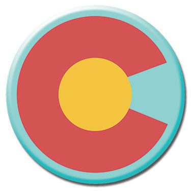 "Colorado State Flag 1.25"" Button by Badge Bomb"