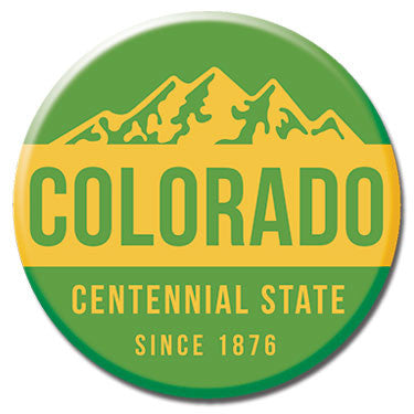 "Colorado Centennial State 1.25"" Button by Badge Bomb"