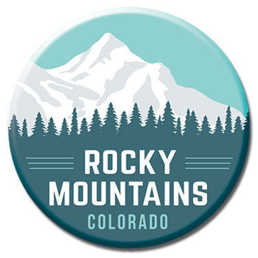 "Rocky Mountains Colorado 1.25"" Button by Badge Bomb"