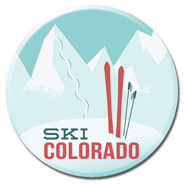 "Ski Colorado 1.25"" Button by Badge Bomb"