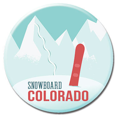 "Snowboard Colorado 1.25"" Button by Badge Bomb"