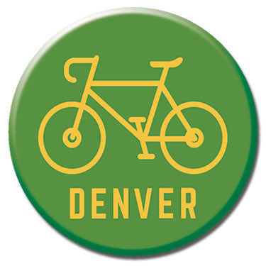 "Denver Bike 1.25"" Button by Badge Bomb"