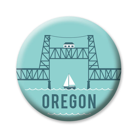 "Steel Bridge Oregon 1"" button by Badge Bomb"