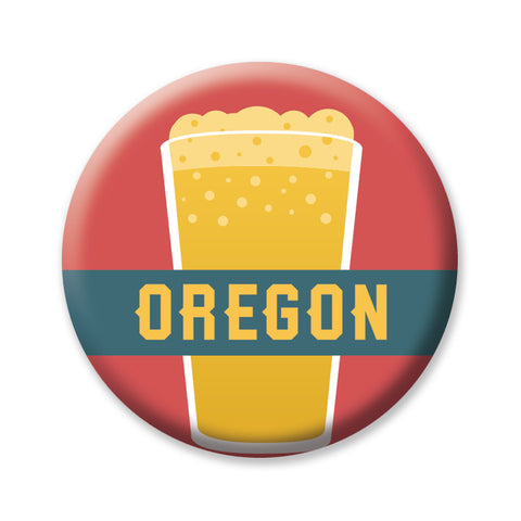 "Pint Beer Oregon 1"" button by Badge Bomb"