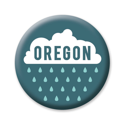 "Rain Oregon 1"" button by Badge Bomb"